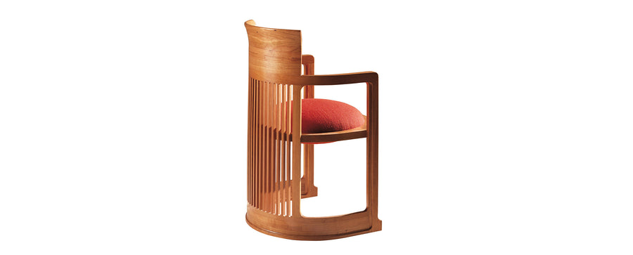 Barrel Chair, cherrywood stain