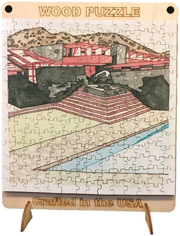 Taliesin West Wood Puzzle, completed puzzle.
