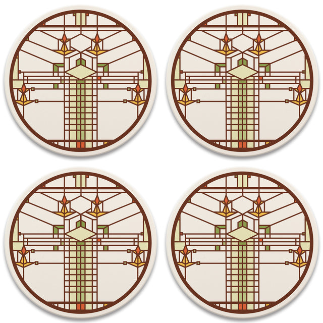 Bradley House Coasters, tops of four in set