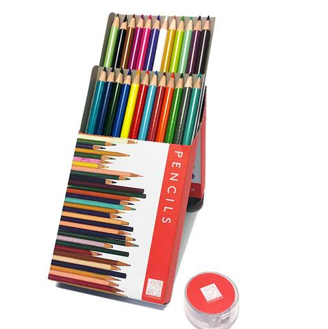 Colored Pencils Set with Sharpener