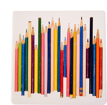 Colored Pencils Trivet, top
