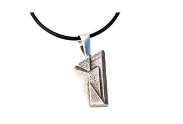 Cabaret Column Pendant on leather necklace which is not included.