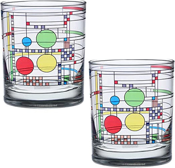 Photo of two Coonley Playhouse Double Old Fashioned Glasses