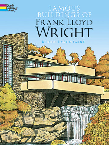 Front cover of Famous Buildings of Frank Lloyd Wright.