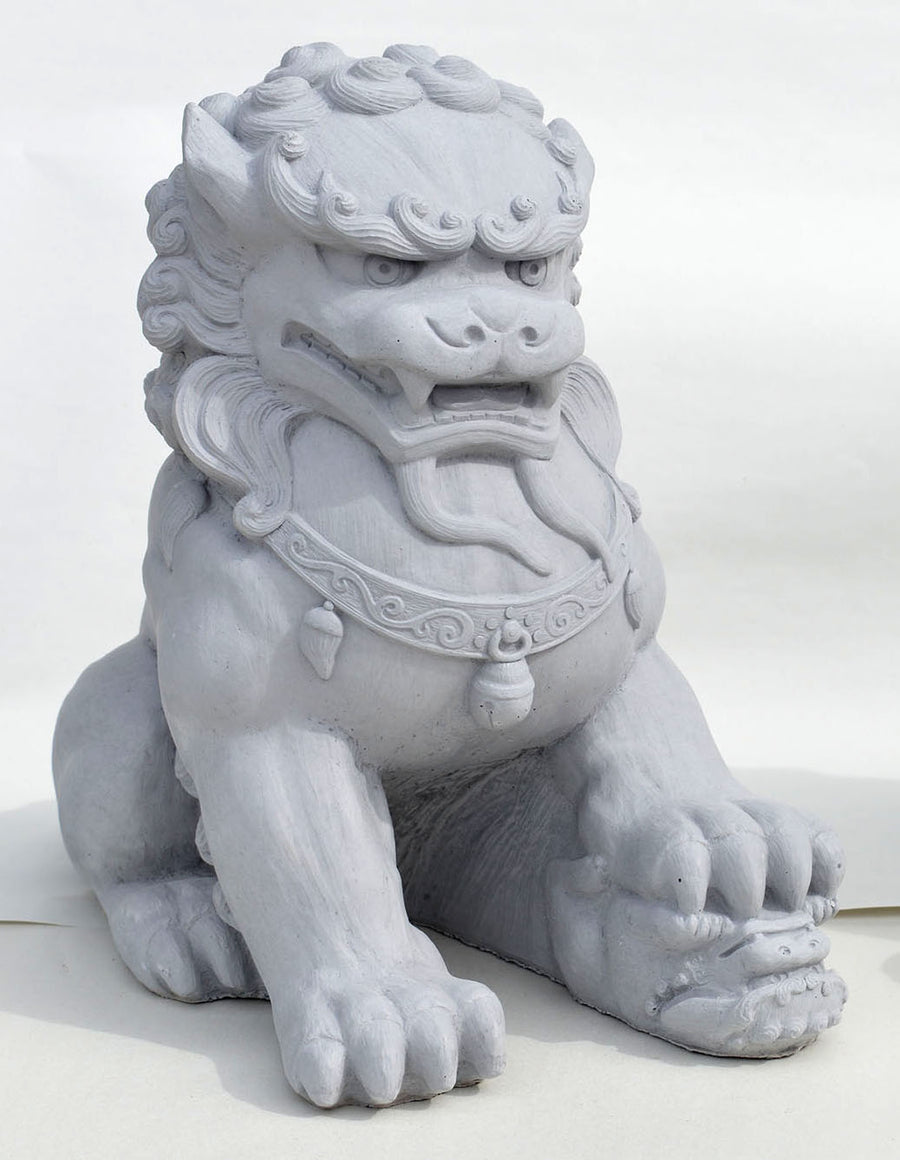Fu Dog Female, Antique Gray.