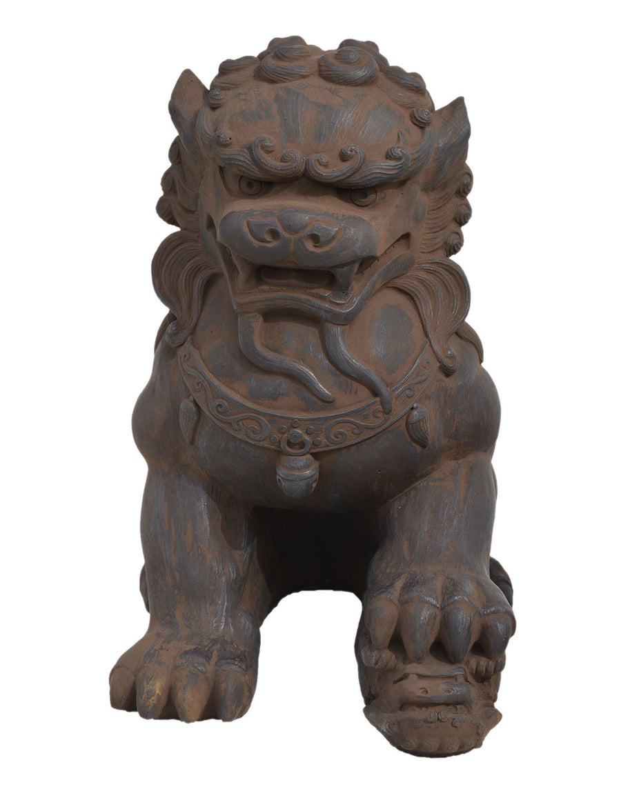 Fu Dog Female, Dark Walnut.
