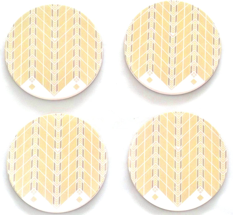 Lake Geneva Hotel Tulip Coasters, tops of four in set