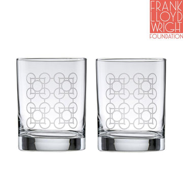Photo of two Luxfer Prism Double Old Fashioned Glasses