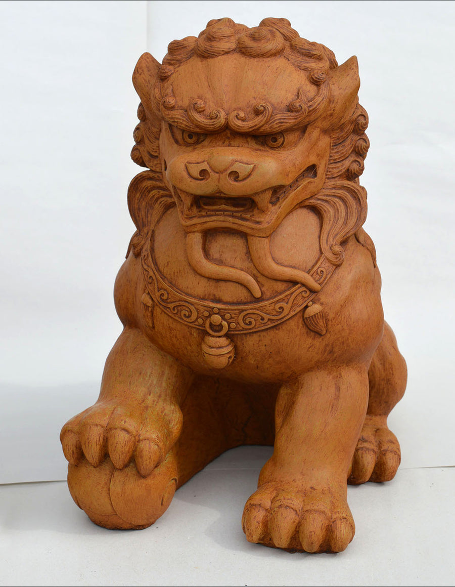 Fu Dog Male, Terracotta.