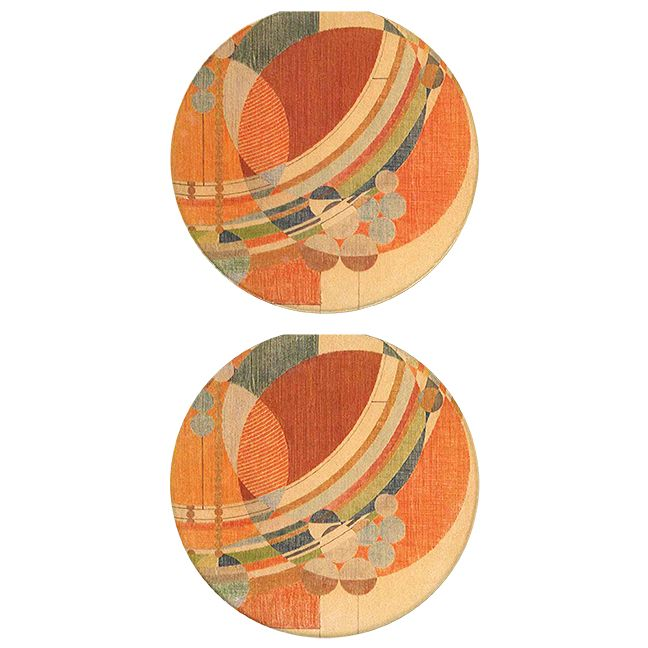 March Balloons Car Coasters, tops of two in set