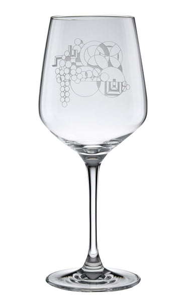 Photo of May Basked Etched Wine Glass