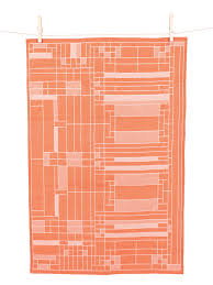 Oak Park Jacquard Tea Towel, unfolded.