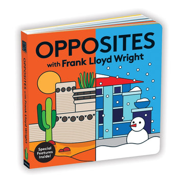 Front cover of Opposites with Frank Lloyd Wright.