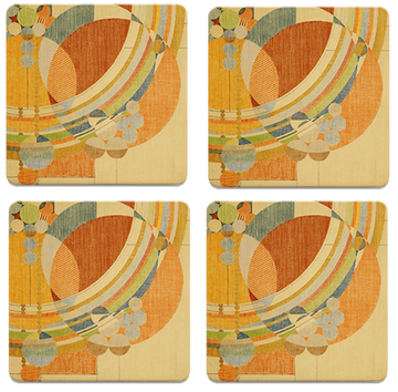 March Balloons Coasters, tops of four in set