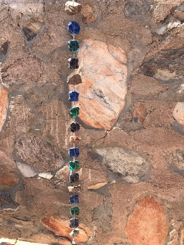 Taliesin West Rain Chain #2 Blue, Turquoise, Purple
