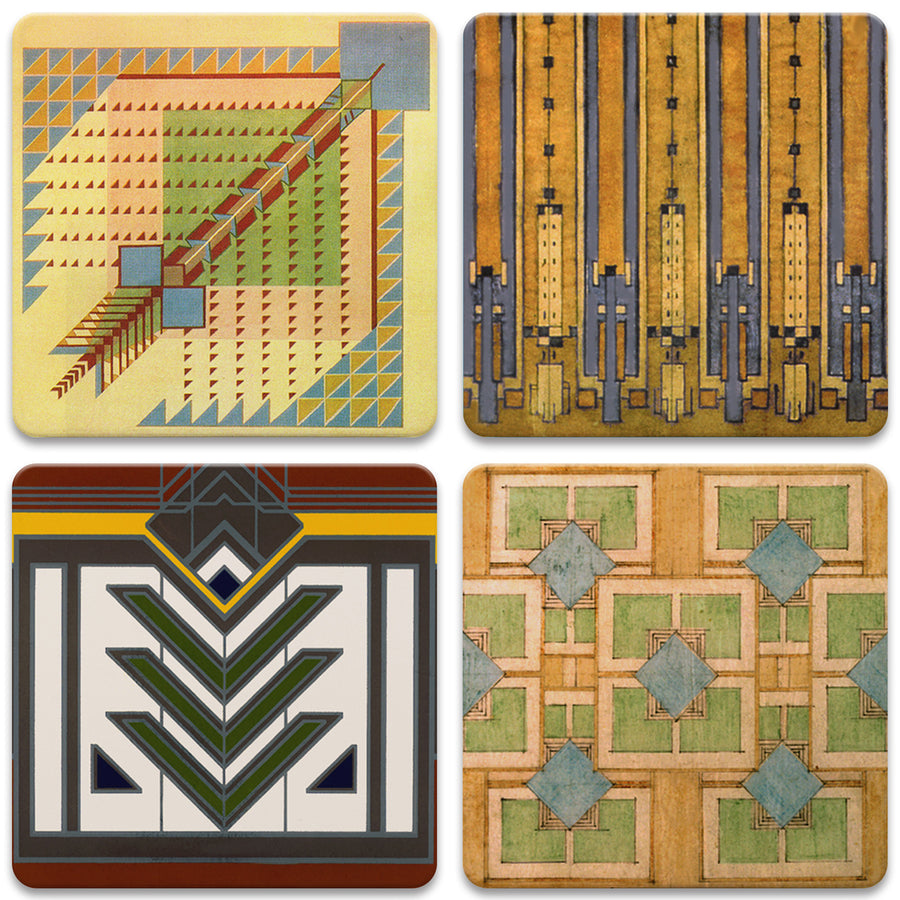 Rug Designs Square Coasters, Set of 4