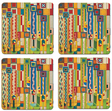 Saguaro Forms Coasters, tops of four in set