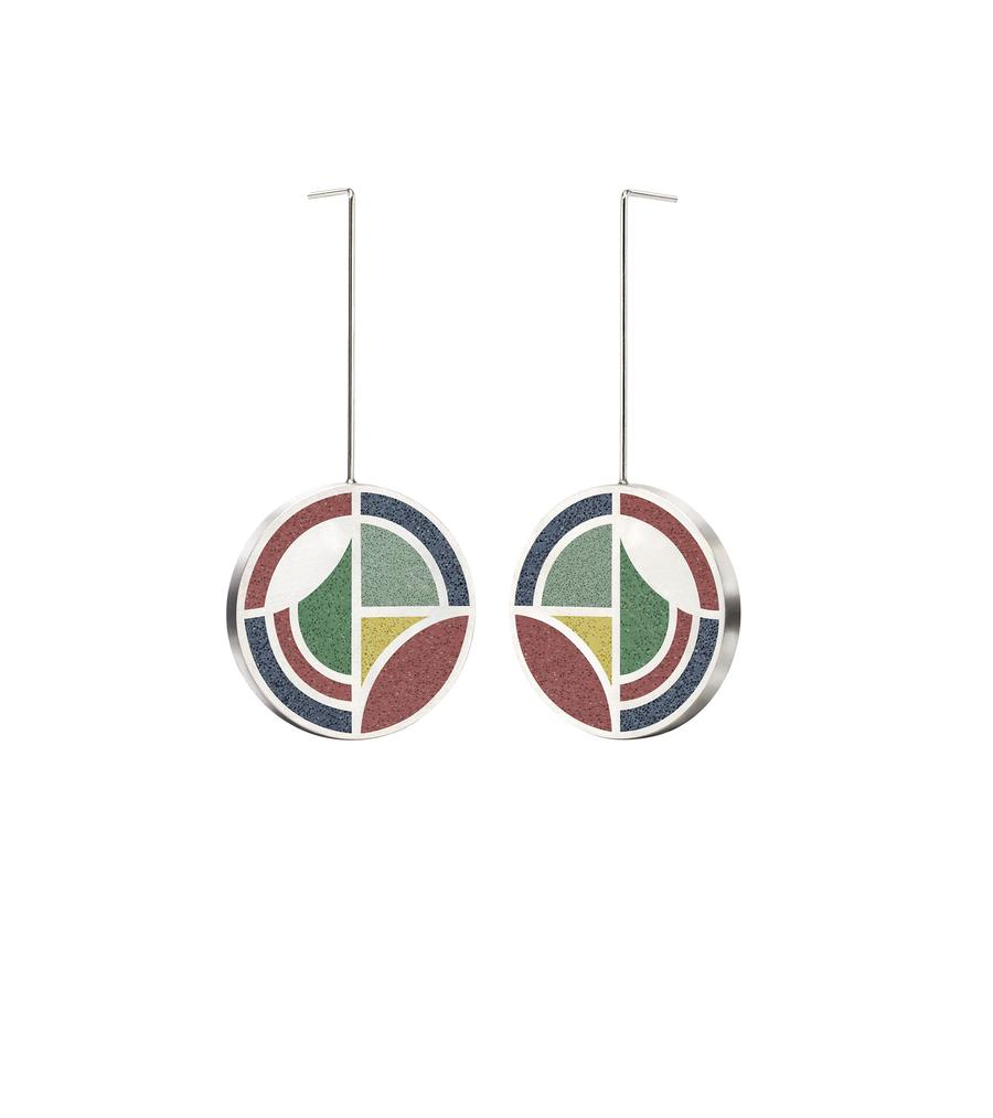 Konzuk Saguaro Forms Drop Earrings, Mix 1, pair.