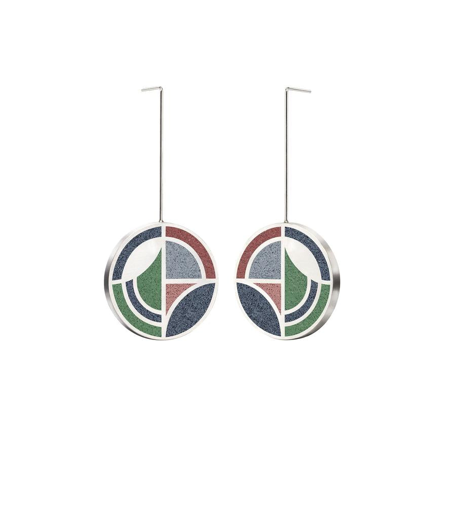 Konzuk Saguaro Forms Drop Earrings, Mix 2, pair.