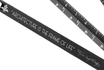 Image shows close up of quote and Frank Lloyd Wright signature.