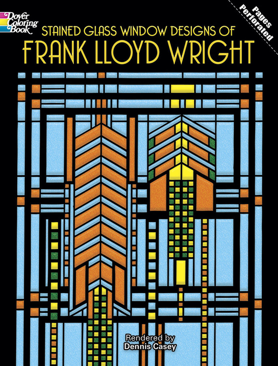 Front cover of Stained Glass Window Designs of Frank Lloyd Wright.