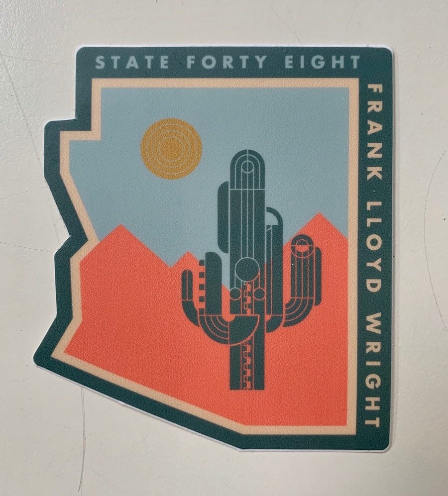 State Forty Eight Saguaro Sticker