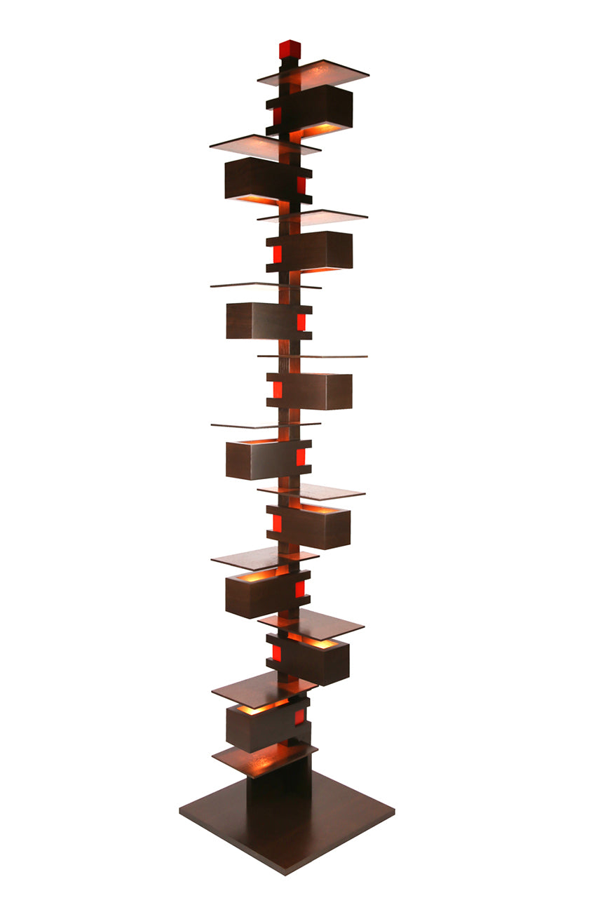 Taliesin Floor Lamp, walnut stain