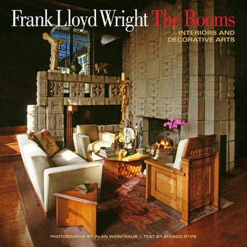 Front cover of Frank Lloyd Wright: The Rooms, Interiors and Decorative Arts.