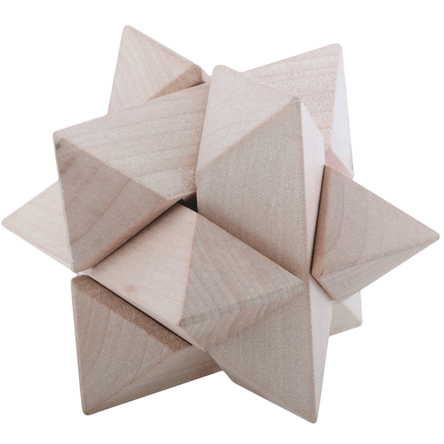 Triangle Wood Puzzle.