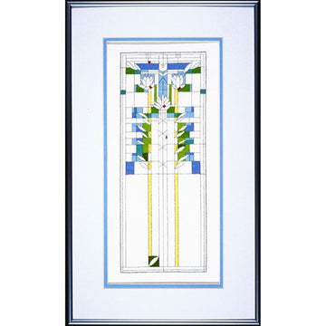 Sample of completed Waterlilies Cross Stitch Kit.