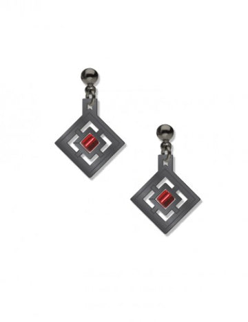 Zimmerman House Earrings with red beads