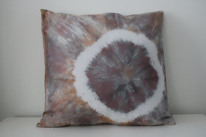 Hand dyed silk throw pillows 18x18 inch