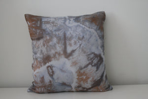 Hand dyed silk throw pillows 14x14 inch
