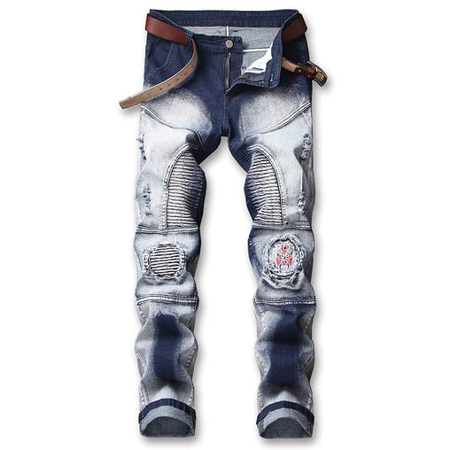 Stretch Motorcycle Denim Trousers