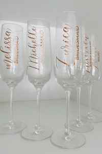 Personalized Flute Glass
