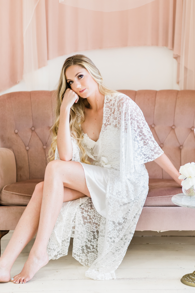 Pajama Party - Luxury Lace Full Length Robe