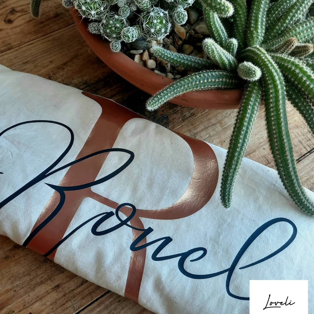 Personalised Linen Tote Bag