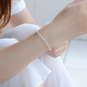 Beyond Jewellery- 925 Sterling Silver Hollow Ball Charm Bracelet