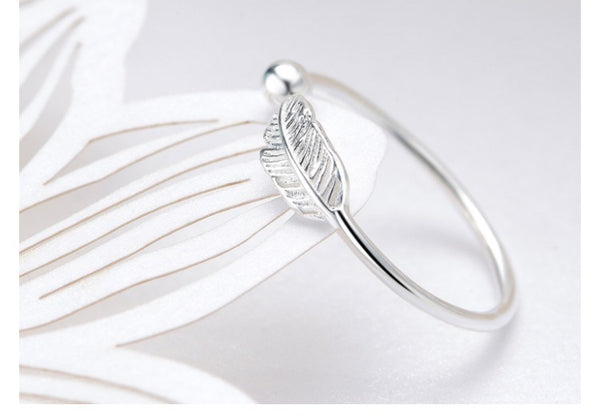 Beyond Jewellery - 925 Sterling Silver Feather Ring