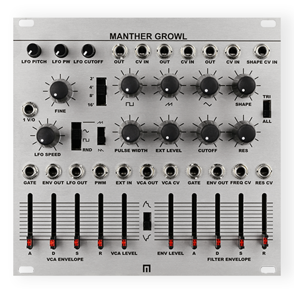 Malekko Manther Growl Monophonic Synth Eurorack