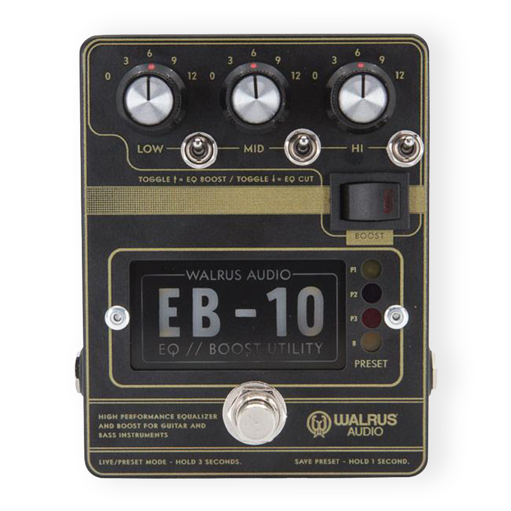 Walrus Audio EB-10 (Black) Preamp & Boost