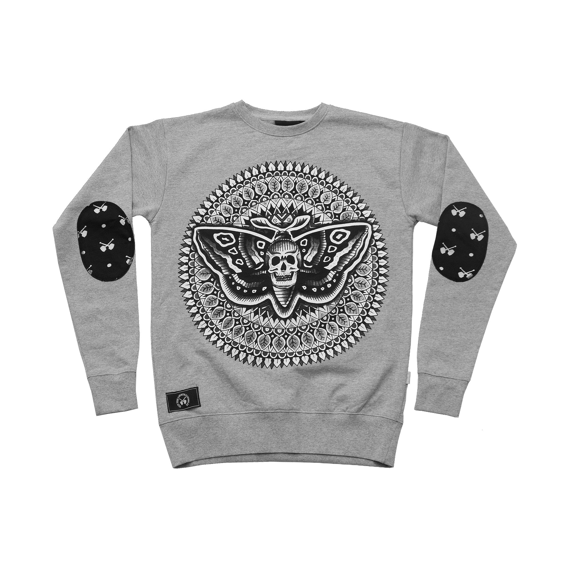 Deathhead Sweater - Heather Grey
