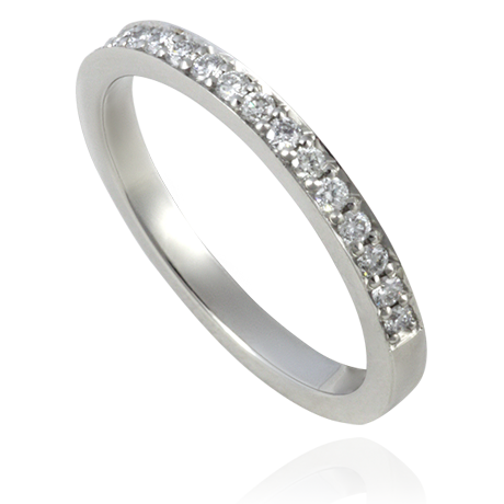 Platinum Diamond Set Wedding Band