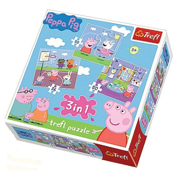 Trefl Peppa Pig 3 in 1 Puzzle