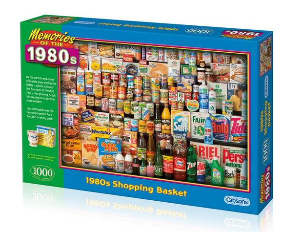 1980s Shopping Basket 1000 Piece Puzzle By Gibsons