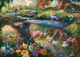 **NEW** Thomas Kinkade – Disney: Alice In Wonderland 1000 Piece by Schmidt