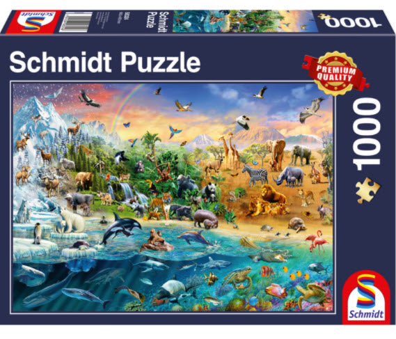 Animal Kingdom 1000 Piece Puzzle by Schmidt