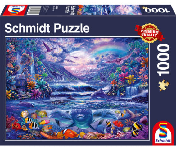 Moonlit Oasis 1000 Piece Puzzle by Schmidt