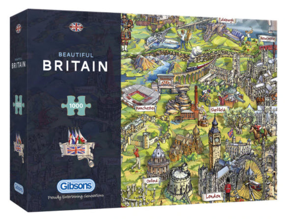 Beautiful Britain 1000 Piece Puzzle By Gibsons