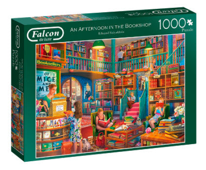 An Afternoon In The Bookshop 1000 Piece Puzzle by Falcon